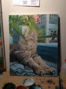 Commisiond Cat Painting